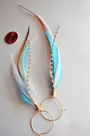 feather earrings kingfisher blue feather earrings