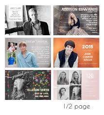 how to make a senior yearbook ad card design beth edwards photography