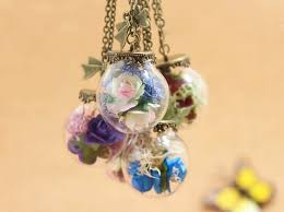 rose glass necklace images New preserved moss paper rose glass vial pendant necklace glass jpg