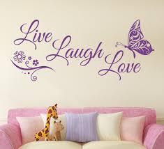 live laugh love live laugh love butterfly flower wall art sticker modern wall decals