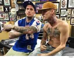 aaron carter gets neck tattoo wants the full tyson tmz com