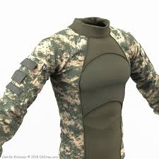 army pattern clothes download free 3d army clothing combat shirt obj model cg elves