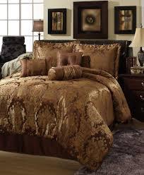 beautiful rich u0026 elegant 7 pc brown gold comforter set queen