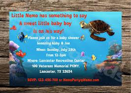 nemo baby shower finding nemo baby shower invitations badi deanj