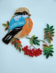 quilling art bird of happiness colourful paper by bestquillings