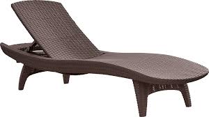 Outdoor Chaise Lounge Chair Keter 2pc Rattan Outdoor Chaise Lounge Chairs Patio Table
