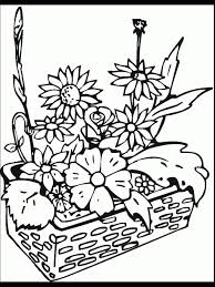 printable coloring pages of flowers garden flowers coloring pages garden flower colouring pages for