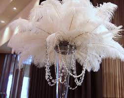 ostrich feather centerpieces ostrich feather etsy