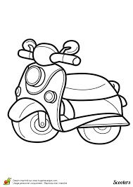 coloriage d u0027un scooter une place coloriages de motos et kartings