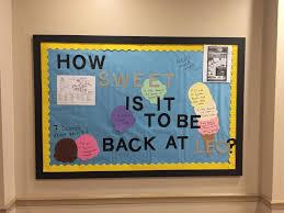 ra college bulletin board welcome back ice cream ra boards