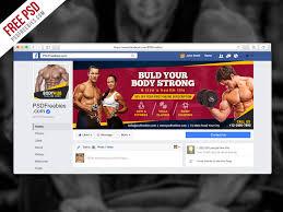 fitness gym facebook fanpage cover psd template psdfreebies com