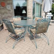 Tropitone Patio Table Tropitone Patio Table And Four Chairs Cart Umbrella Ebth