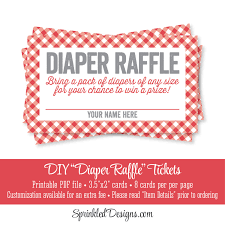 printable diaper raffle ticket bbq baby shower game red