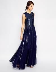 image 1 of asos embellished sequin strip maxi dress mother of