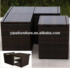 hand weave rattan outdoor space saving furniture space saving patio