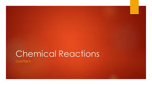 ppt on types of chemical reactions