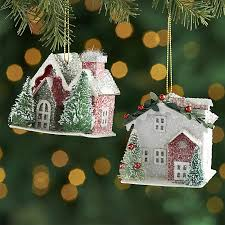 paper house ornaments crate and barrel