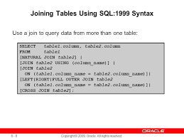 how to join tables in sql displaying data from multiple tables ppt download