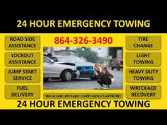 emergency towing service greer sc call 864 326 3490