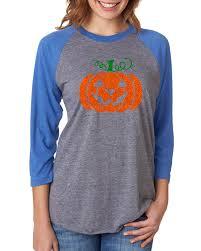 T Shirt Halloween Costume by Glitter Jack O U0027 Lantern Pumpkin Halloween Costume Womens Raglan