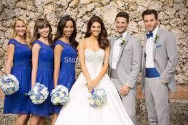 blue gray bridesmaid dresses vestido de madrinha lace cap sleeve bridesmaid dresses royal