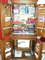 craft cabinet with fold out table armoires sewing armoire plans medium image for sewing plans over