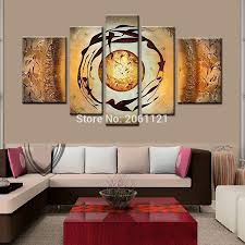 unique figure wall art for hand painted modern abstract moon canvas wall art oil painting on