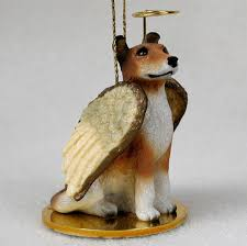 collie figurine ornament statue painted smooth hair