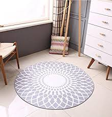 tapis rond chambre mode scandinave tapis rond gris salon table basse grand tapis