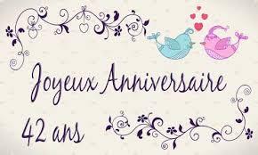 42 ans de mariage carte anniversaire mariage 42 ans oiseau