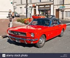 mustang classic american 1970s ford mustang classic car france stock photo