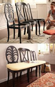 build dining room chairs 8 diy projects for turning old chairs into gorgeous benches