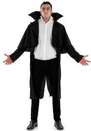 gothic vampire coat mens fancy dress halloween dracula adults