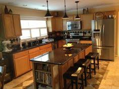 Maple Kitchen Cabinets With Granite Countertops Black Granite Countertops With Maple Kitchen Cabinets Pictures