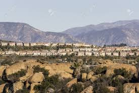 modern california hillside homes in the porter ranch neighborhood