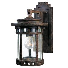 prairie style seeded glass prairie style outdoor wall lantern small shades of