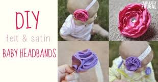 how to make a baby headband how to make baby headbands satin and felt flowers diy for babies