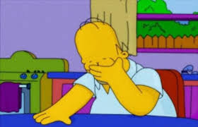 Face Palm Meme - homer facepalm blank template imgflip