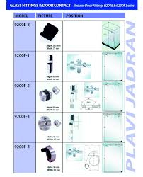 Shower Door Fittings by Plavi Jadran