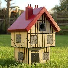 what makes a house a tudor personalised tudor house bird box by lindleywood