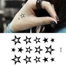 temporary star tattoos ebay