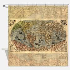 Shower Curtain World Map World Map Shower Curtains Cafepress