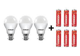 aa battery light bulb buy eveready b22d base 7 watt led bulb pack of 3 cool day light