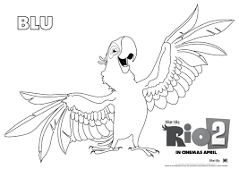 rio coloring rio nigel coloring pages hellokids jewel
