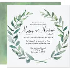 wedding invitations greenery greenery wedding invitations announcements zazzle au