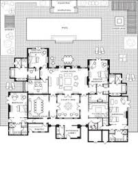 plan of villa ground floor oasis bab atlas marrakech moroccan