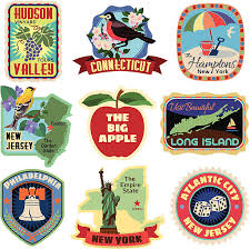 Iowa Travel Stickers images Royalty free travel sticker clip art vector images