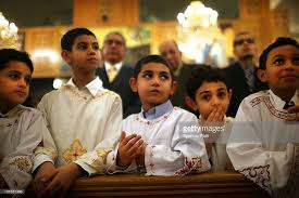 coptic christmas mass held in brooklyn church photos and images