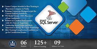 sql server training in noida sql server training institute in