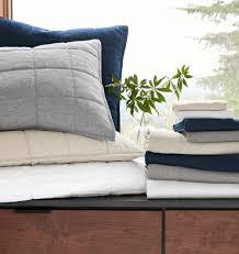 washed linen quilt u0026 shams white rejuvenation